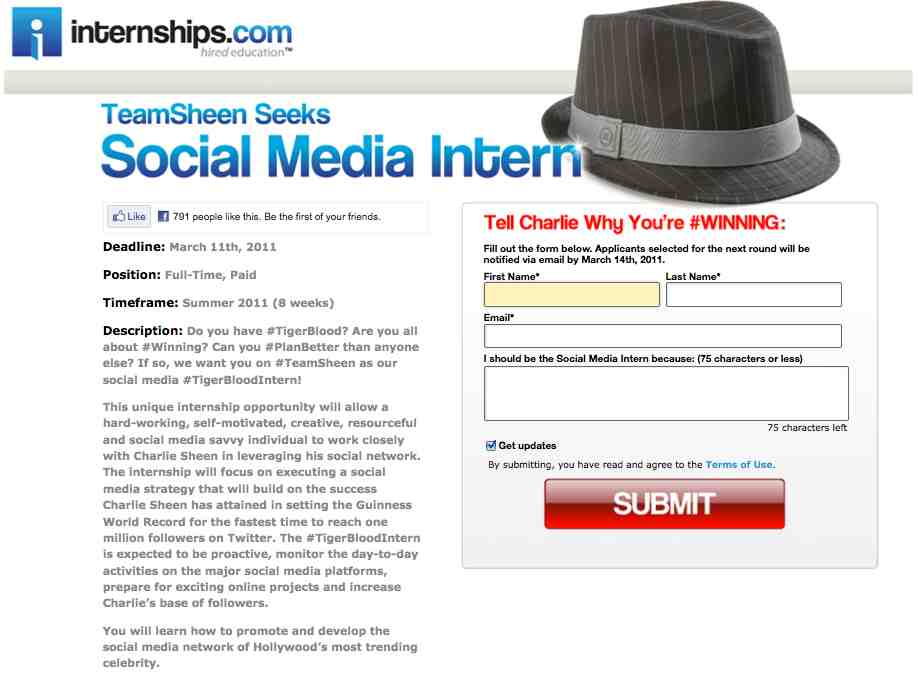 Our Fascination with Charlie Sheen and Social Media Interns image Charlie Sheen Internships Social Media Twitter