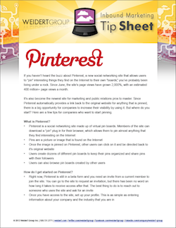 pinterest tip sheet