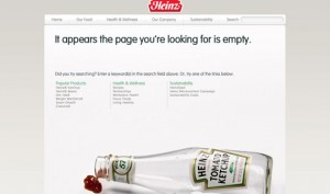 Best Website, UX and Mobile Design Guides and Tips of 2011 image Heinz 404 page 300x177