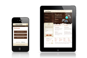 Designing for the User with Responsive Web Design image iphone ipad colonial jewelers homepage Copy 300x200