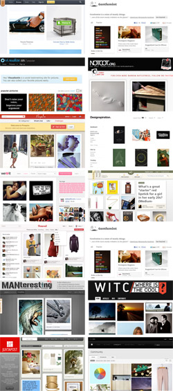 12 sites that are like Pinterest including Designspiration, Juxtapost, Pinspire, Notcot, We Heart It, Mulu, Manteresting, Gentlemint