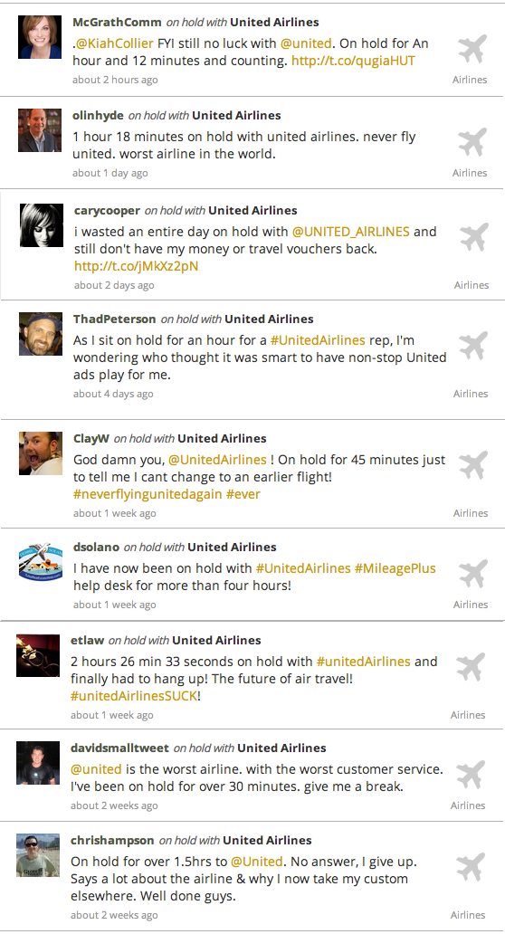Valuable Lessons from United Airlines' Customer Service Fail image united airlines tweets