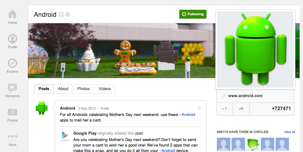 6 Brands & Businesses Effectively Using Google+ image Screen Shot 2012 05 07 at 16.43.33