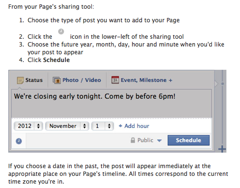 5 Latest Changes To Your Facebook Brand Page image Facebook post schedule