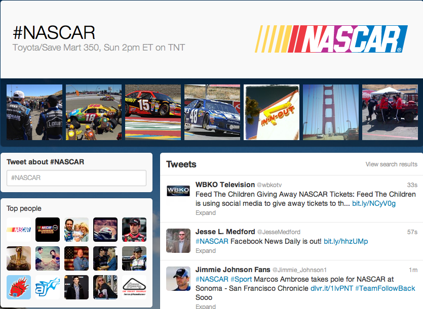 Branding Events, A New Source Of Revenue For Social Networks image NASCAR