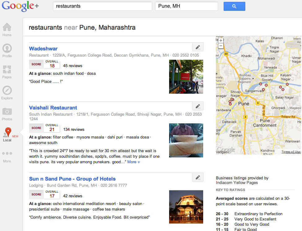 Google Plus Introduces Local, But Is It Cool? image google plus local resturants
