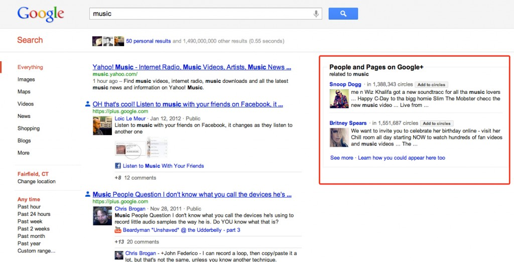 Is Google's Social Search the New Normal? image people and pages google 1024x522