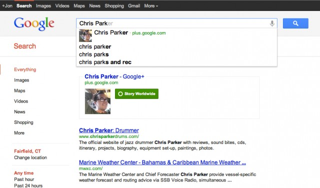 Is Google's Social Search the New Normal? image profiles in google search e1327289058568
