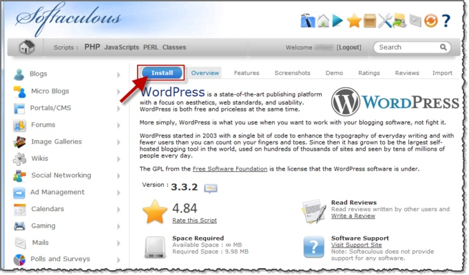 Install WordPress in 5 mins