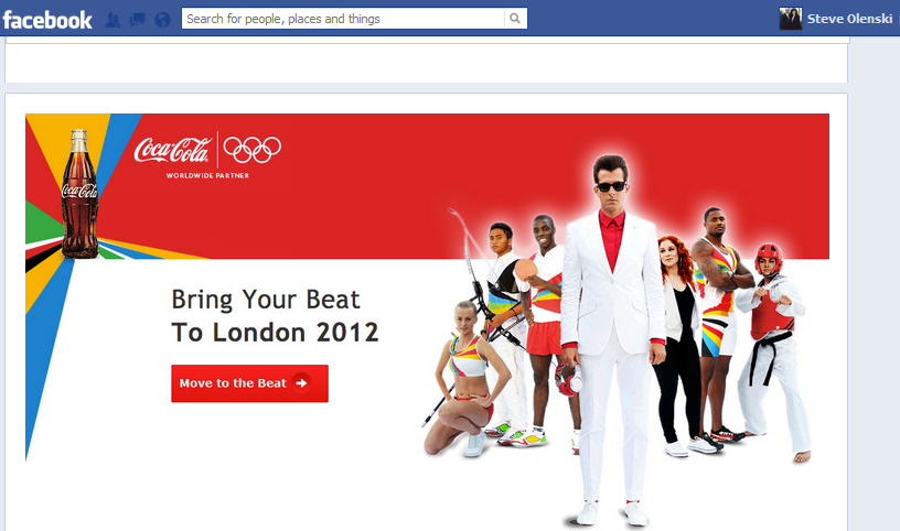 Social Media And The Olympics Infographics image cokefb1
