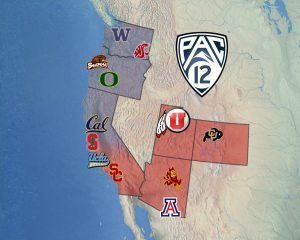 Pac 12 Network: Skinny on Initial Broadcasting Deals image pac 12 map