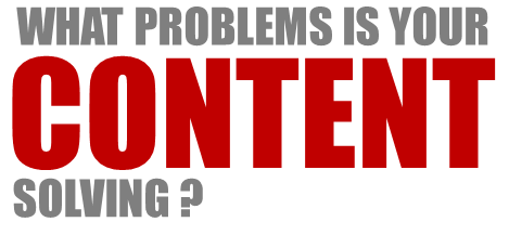 Technology Series: What Problems is Your Content Solving? image problem solving