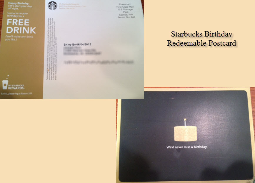 Starbucks Integrated Marketing Case Study; Effective Starbucks Marketing Campaign image sbux bday postcard combined image