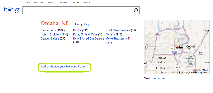 Local SEO – Step 1: Listing Your Business on the Search Engines image Bing Local