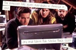 Social Media and Blogging Lessons From Kevin Smith's Movies image Social Media and blogging lessons from kevin smith movies Thill Logistics  carrieatthill internet troll jay and silent bob 300x198