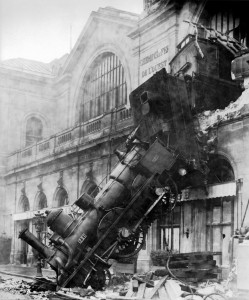 Off the Rails: Why Crowdfunding Is a Train Wreck in the Making image train wreck at montparnasse 1895 249x300