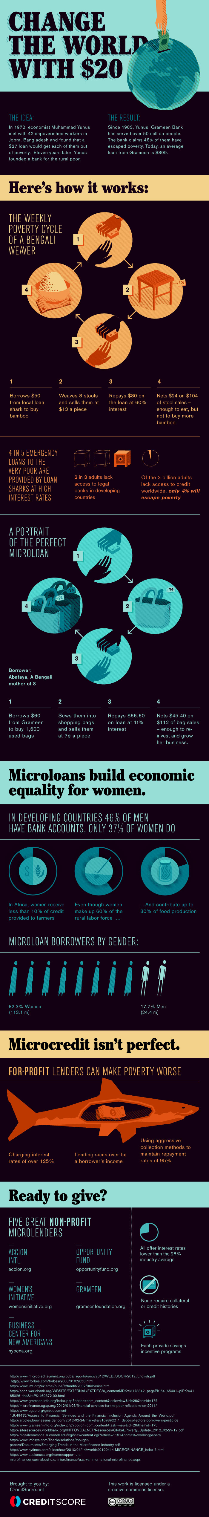 Microlending: Changing the World $20 at a Time (Infographic) image 120907MicrolendingFINAL1