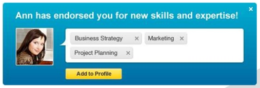 how to get to endorsement page linkedin