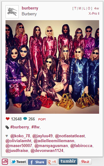 How to Exploit the Power of Instagram for PR image instagram burberry