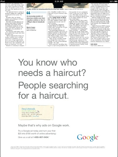 Using custom urls in newspaper ads