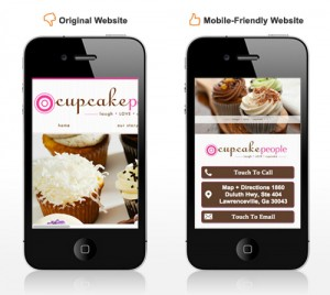 Preparing Your Clients for Mobile on WordPress Sites image Cupcake before and after 300x268