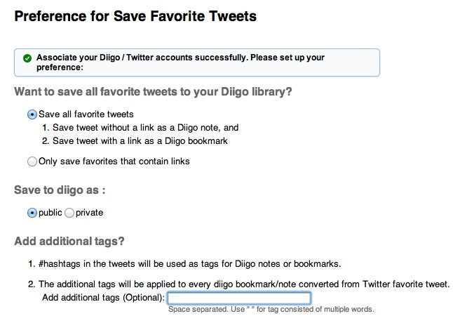 4 Tools for Saving Great Tweets! image Diigo