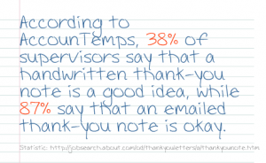 should you send a handwritten thank you note after a job interview