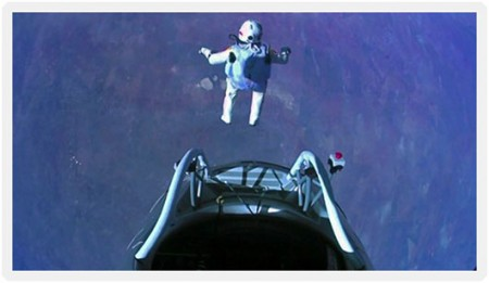 What Social Customers Will Demand From Your Brand in 2013 image Felix Baumgartner 10.14.12 Red Bull Stratos Record Jump From Capsule Step 450x261