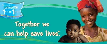 What Social Customers Will Demand From Your Brand in 2013 image Pampers Unicef Banner 450x187