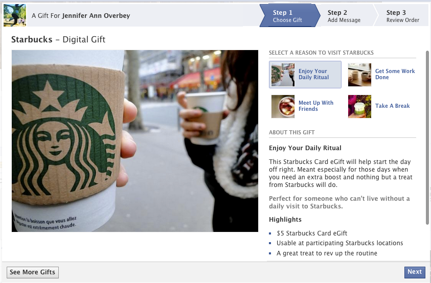 Facebook Wants to Give You Stuff! Will You Let Them? image Screen Shot 2012 11 07 at 5.15.21 AM