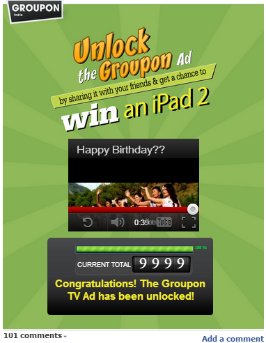Groupon India Celebrates First Anniversary With Unlock TVC Campaign image Unlock the Groupon ad1