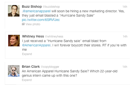 American Apparels Hurricane Sandy Sale   Brilliant or Boneheaded? image american apparel22