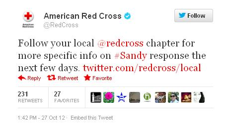 Hurricane #Sandy: Once Again Social Media Proves Its Strategic Value in a Crisis image americanredcross1