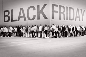Social Media Analysis Reveals That More Than Deals, the Black Friday Experience Motivates Shoppers image black friday waiting line