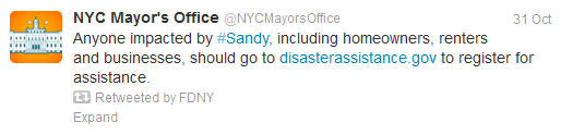 Start Spreading the News About NYC's Success in Using Social Media for Emergency Management image disasterassistance