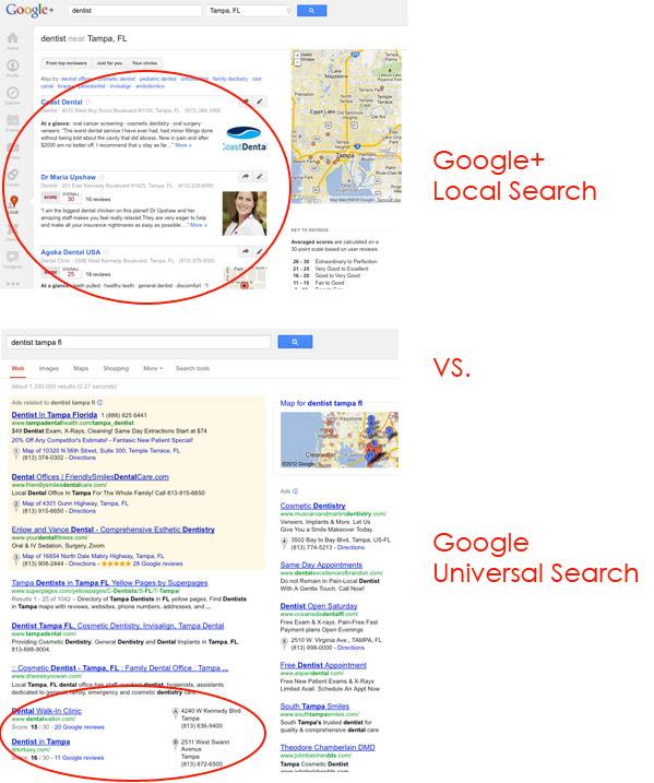 Get More Customers With Google+ Local Search image google plus local search