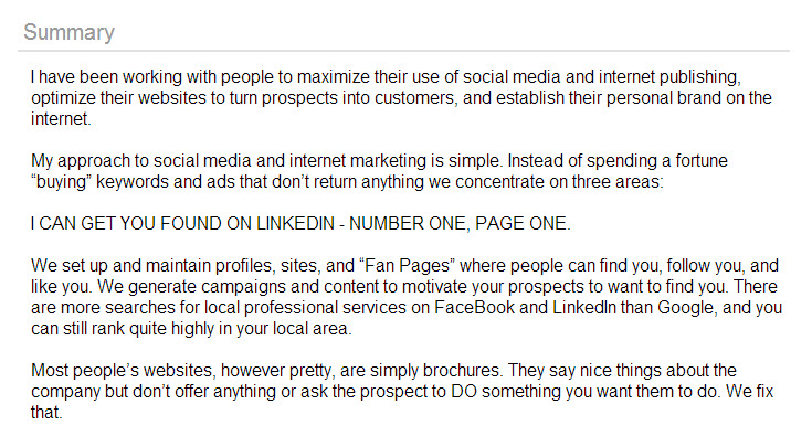Social Search & Influence Games: Why Did You Do It LinkedIn? image linkedin page 1