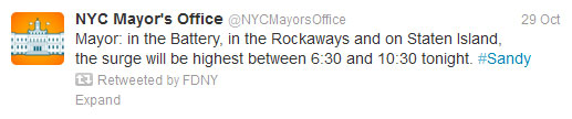 Start Spreading the News About NYC's Success in Using Social Media for Emergency Management image surge