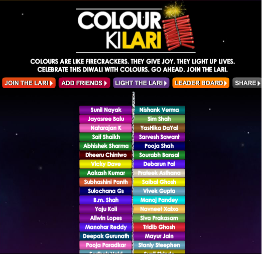 39 Best Indian Facebook Campaigns Of 2012 image Asian paints colour ki lari