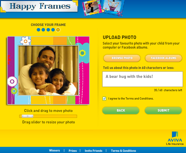 39 Best Indian Facebook Campaigns Of 2012 image Aviva Happy frames