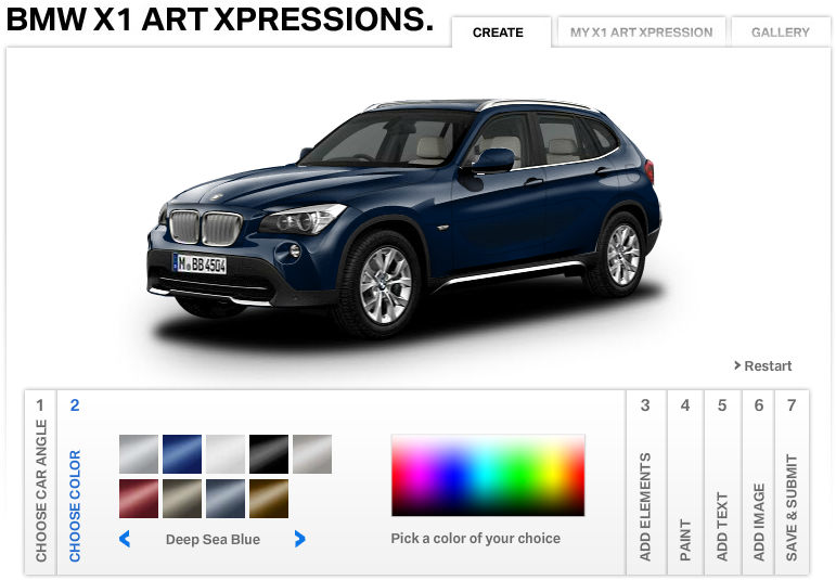 39 Best Indian Facebook Campaigns Of 2012 image BMW X1 art  xpressions