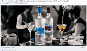 Top 5 Holiday Social Media Marketing Campaigns in the Liquor Industry image Grey Goose 1 300x178