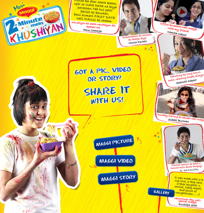 39 Best Indian Facebook Campaigns Of 2012 image Meri Maggi FB app