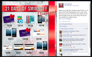 Top 5 Holiday Social Media Marketing Campaigns in the Liquor Industry image Smirnoff 1 300x185