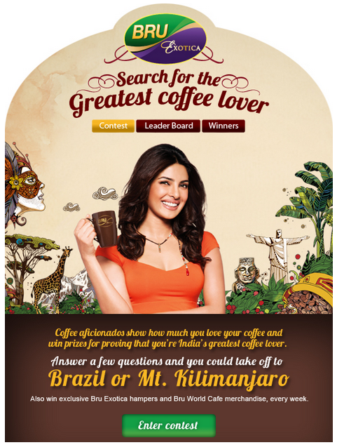 39 Best Indian Facebook Campaigns Of 2012 image bru exotica greatest coffee lover