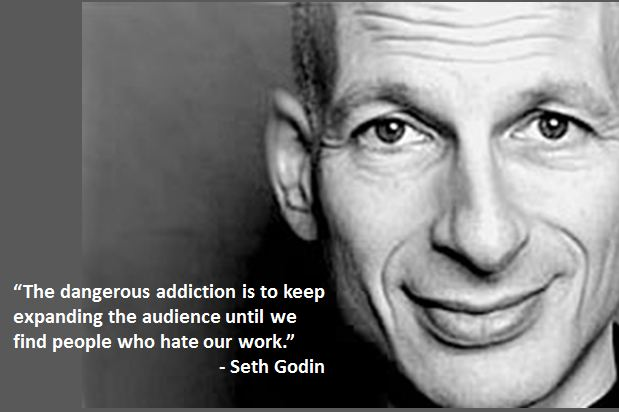 The Paradox of Social Media Popularity image godin quotes