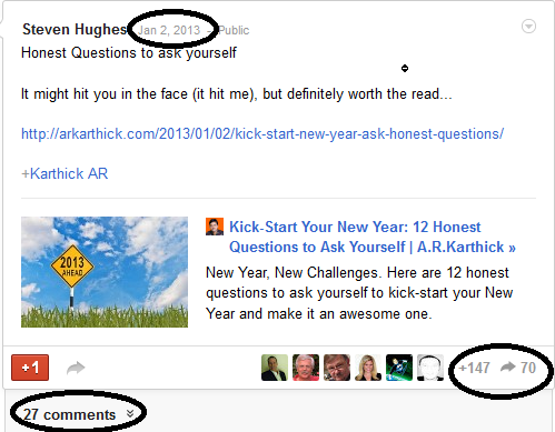 "Google Plus: ""What's Hot"" and the Power of Sharing image Arkarthick Blog Post From Google Plus Whats Hot"