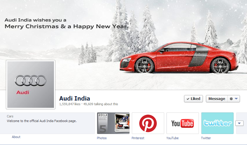 10 Awesome Facebook Cover Photos Of Indian Brands image Audi India