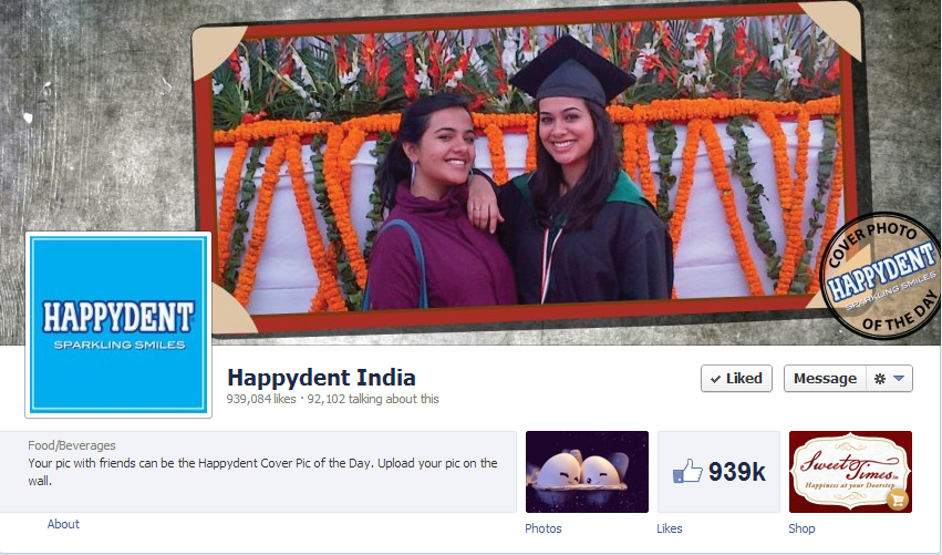 10 Awesome Facebook Cover Photos Of Indian Brands image Happydent India