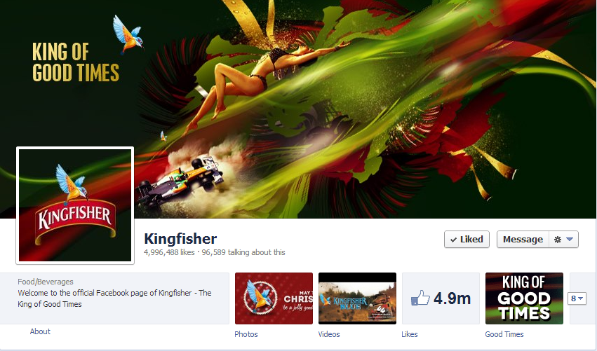 10 Awesome Facebook Cover Photos Of Indian Brands image Kingfisher